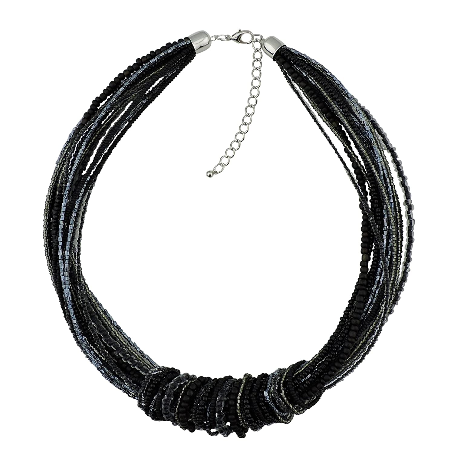 Bocar Chunky Statement Colorful Seed Beads Women Choker Collar Necklace bocarjewelry NK-10306