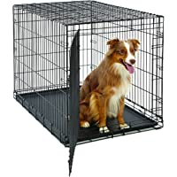 Large Dog Crate | MidWest Life Stages Folding Metal Dog Crate | Divider Panel, Floor Protecting…