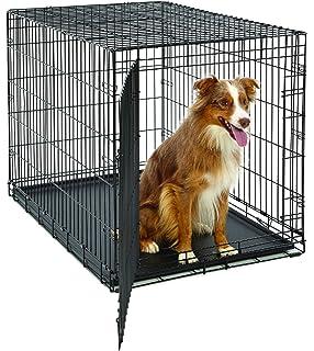 MidWest Life Stages Heavy-Duty Folding Metal Dog Crates; Single Door & Double Door