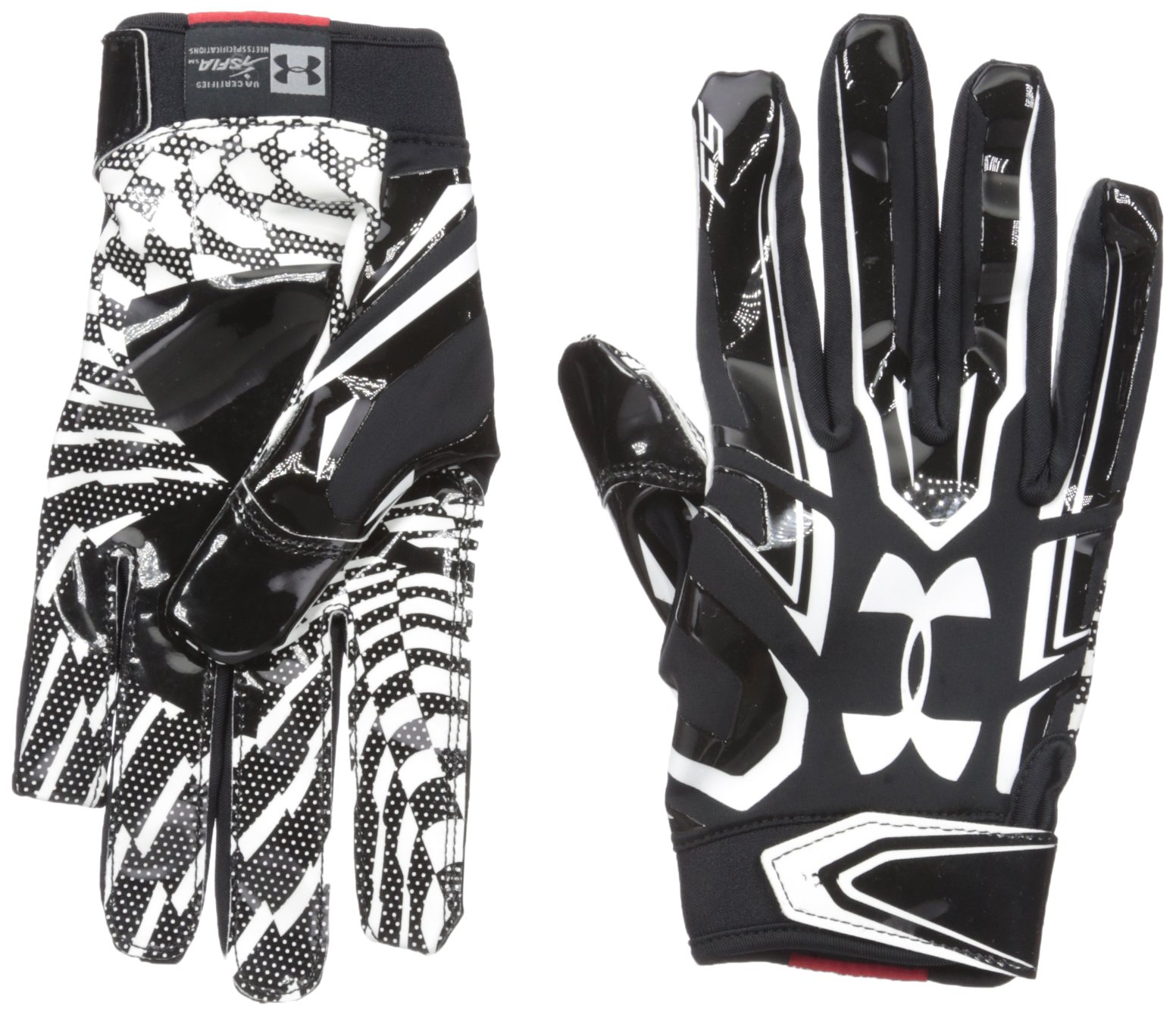 Under Armour Mens F5 Football Gloves, Black/White, Small