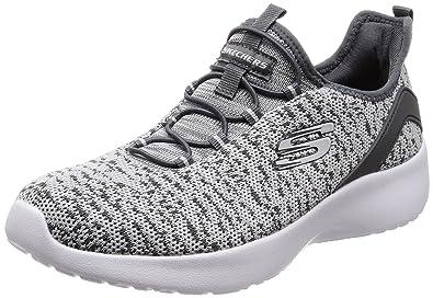 Skechers Women's Dynamight - Fleetly Gray Casual Shoe 5.5 Women US