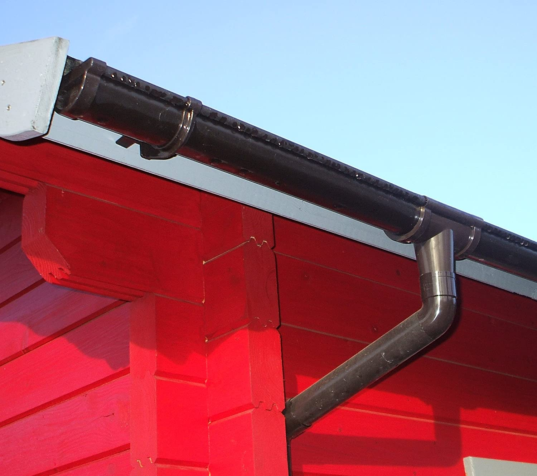 Dachrinnen Set RG 80 braun 6 x 200 cm 6-Eck-Dach