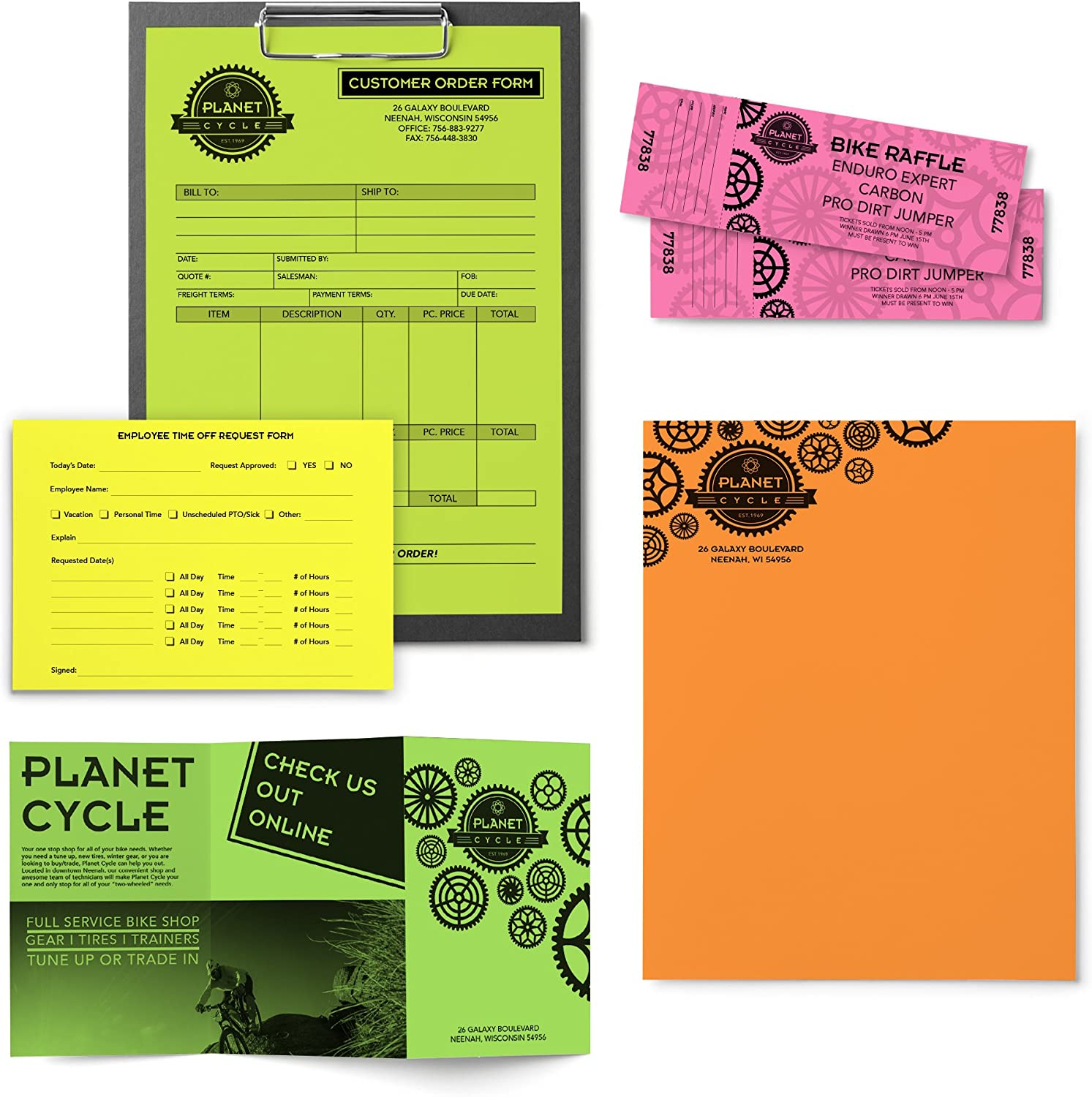 """Neenah Astrobrights Colored Paper, 8.5"""" x 11"""", 24 lb/89 gsm, """"Neon"""" 5-Color Assortment, 500 Sheets (20270) : Printer And Copier Paper : Office Products"""