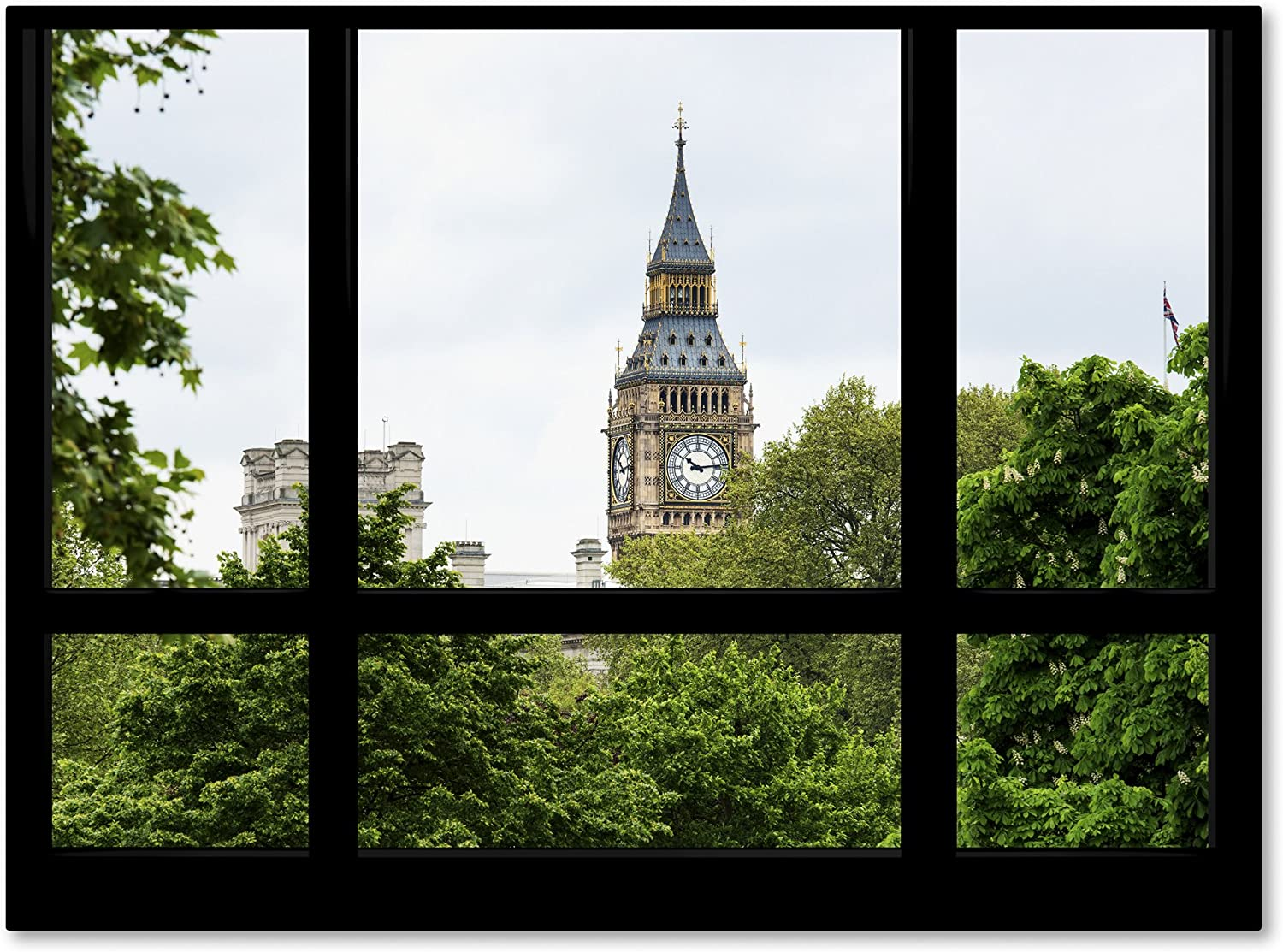 Window View Big Ben 2 By Philippe Hugonnard Wall Decor 35 X 47 Canvas Wall Art Posters Prints
