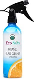 Eco Nuts Organic Glass Cleaner for Getting Rid of Streaks, Fingerprints, and Grime – 16 Ounces