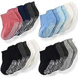 Calcetines de tobillo antideslizantes Momcozy 6/12 pares de calcetines para bebé con suela antideslizante para niños y niñas