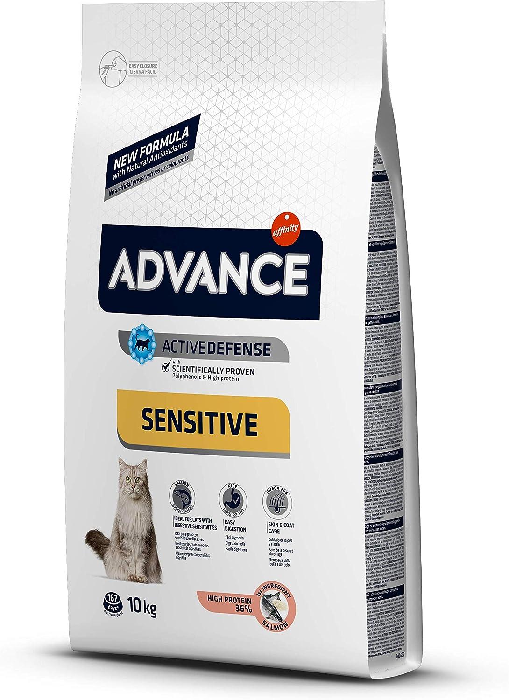 Advance Sensitive - Pienso para Gatos, 10 kg: Amazon.es: Productos ...