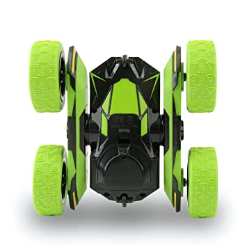 Rimila Electric RC Stunt Car 2WD Off Road Remote Control Vehicle 2 4Ghz  Racing Slot Cars High Speed 7 5Mph 360Ã'° Rolling Rotating