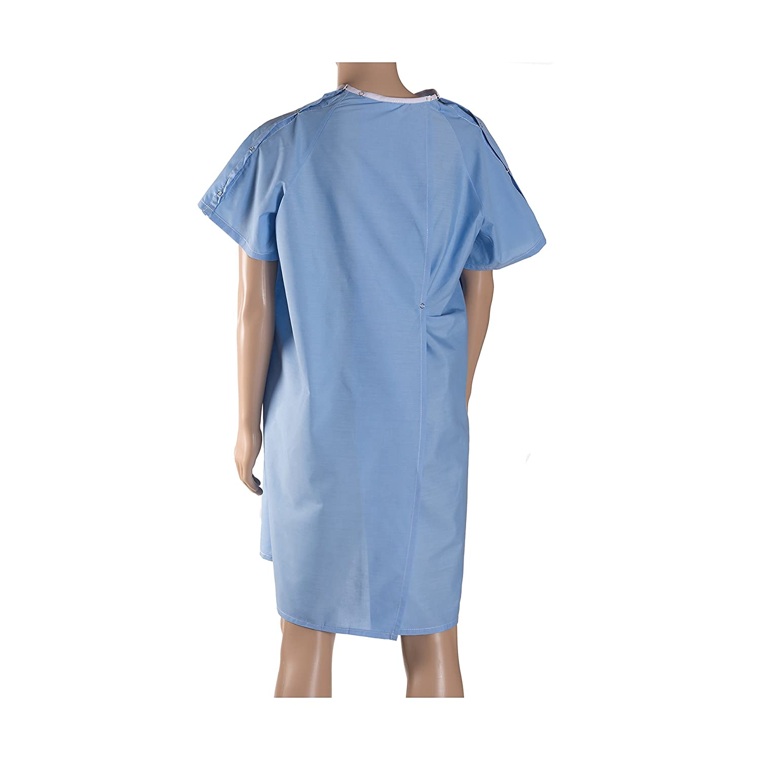 Amazon.com: DMI Hospital Gown, Easy Access Patient Gown, Blue ...