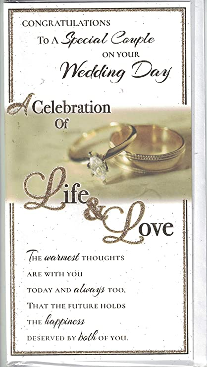 Wedding Day Card Congratulations On Your Wedding Day Diamond Wedding Rings Design Amazon Co Uk Office Products
