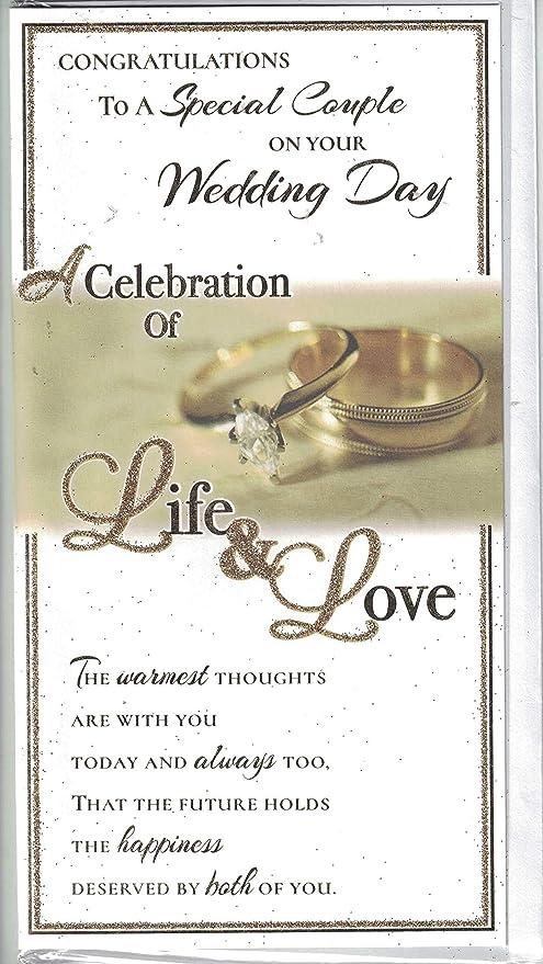 Tarjeta para el día de la boda ~ Felicidades en el día de tu ...