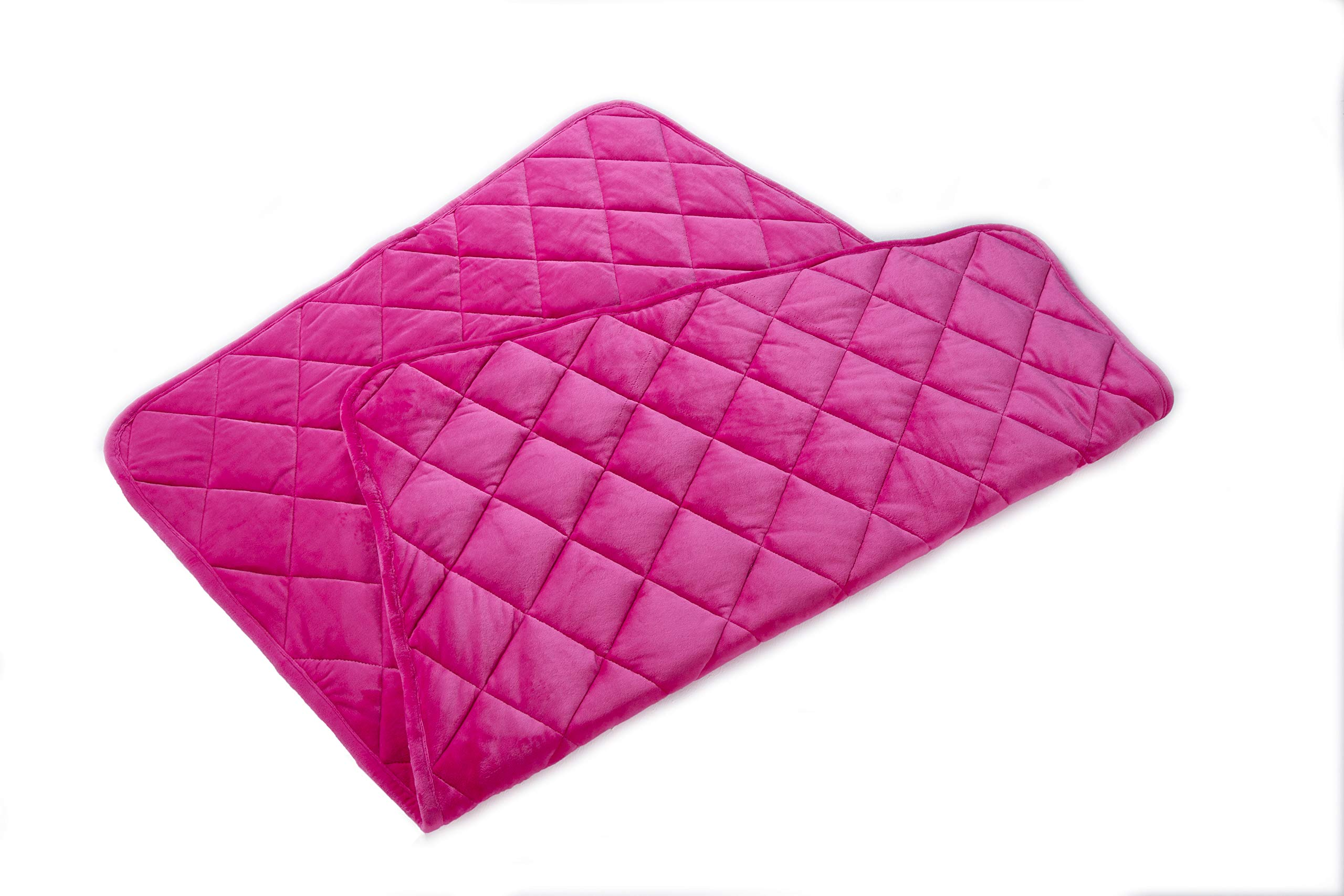 Finslep Minky Weighted Blankets | One Piece Design | Travel Blanket | Air Conditioner Duvet | Kid's&Toddler Blanket | Good for A Better Sleep | Easy Clean | Glass Beads(Pink, 36'' x 48'' 3 lbs)