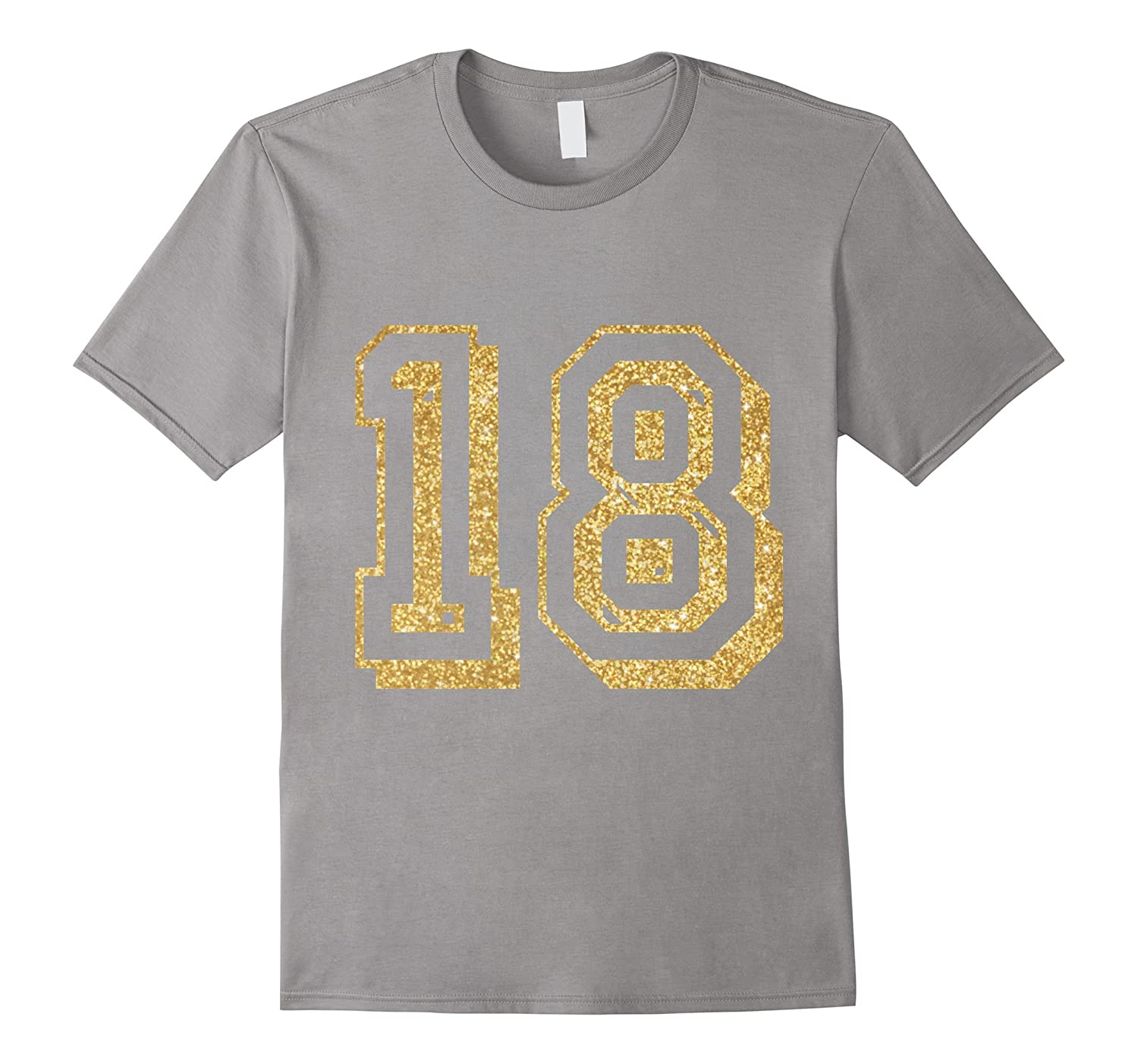 18th Birthday T Shirts Shirts  Tees Gold Faux T-Shirt-RT