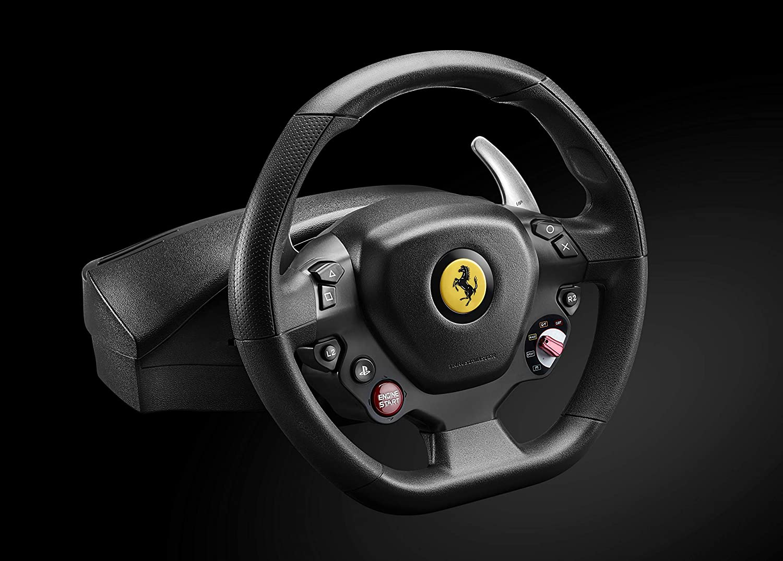 Thrustmaster Ferrari 488 Gtb Edition Replika Des Echten Ferrari 488 Gtb Lenkrades Fur Playstation 4 Und Pc Kompatibel Mit Ps5 Spielen Amazon De Games