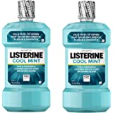 Listerine Cool Mint Antiseptic Mouthwash to Kill 99% of Germs that Cause Bad Breath, Plaque and Gingivitis, Cool Mint…