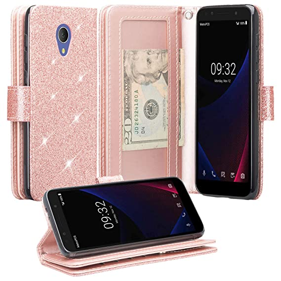 40efc738d725 Alcatel 1X Evolve,Alcatel IdealXTRA Case (5059R), Alcatel TCL LX (A502DL)  Case [Kickstand] Pu Leather Wallet Case ID & Credit Card Slot for Alcatel  1X ...
