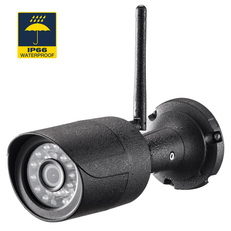 Rukerway Caméra IP Extérieur Caméra de Surveillance 1080p Outdoor Sécurité étanche Wifi, Vision Nocturne et Détection de Mouvement Vision Nocturne et Détection de Mouvement