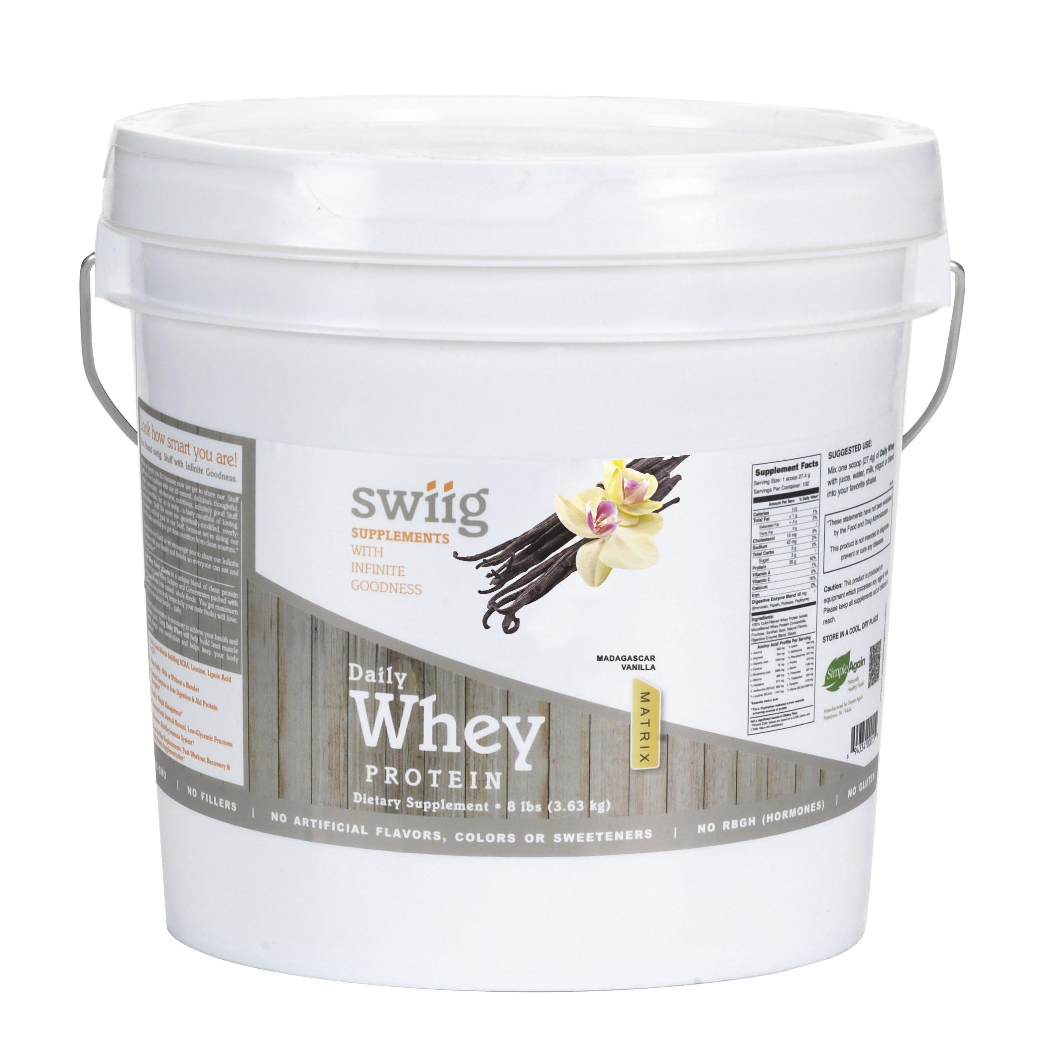 swiig Daily Whey Matrix Vanilla - 8lb