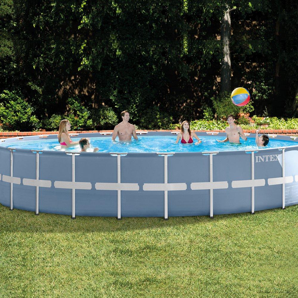 Intex - Piscina desmontable Prisma Frame, 732 x 132 cm, 47.241 litros (26762): Amazon.es: Jardín