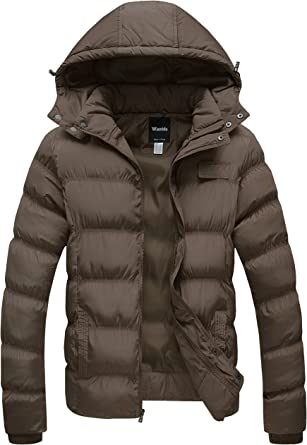 Mens Winter Thicken Cotton Coat Puffer Jacket With Removable Hoodie Warm Outwear