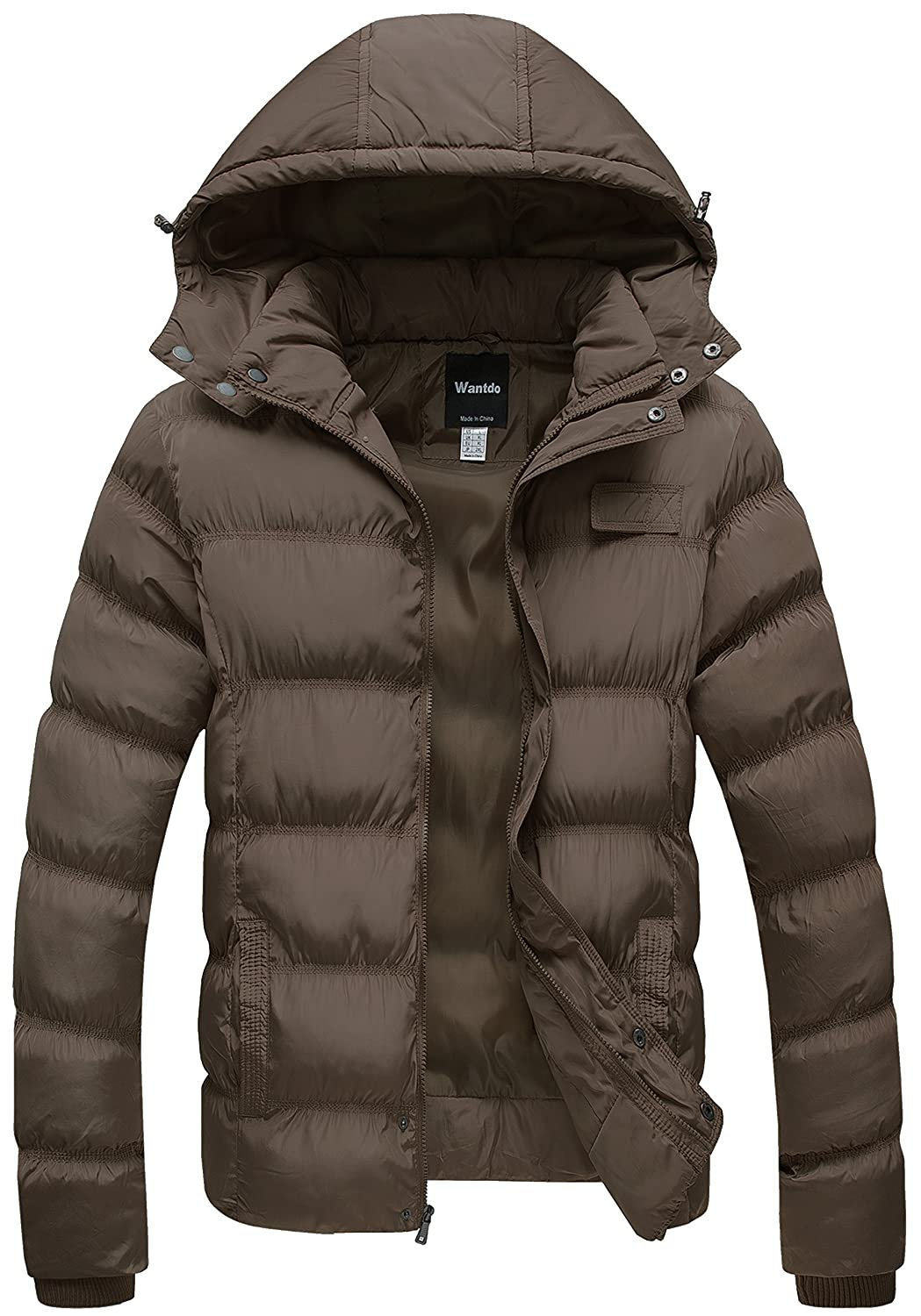 Wantdo Men's Lightweight Hooded Puffer Jacket ZH604