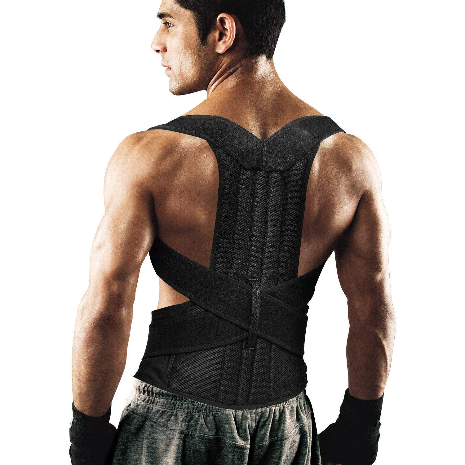 Back Brace Posture Corrector for Women and Men Back Lumbar Support Shoulder Posture Support for Improve Posture Provide and Back Pain Relief (27.5''-49.5'') Waist-L by AIYUE