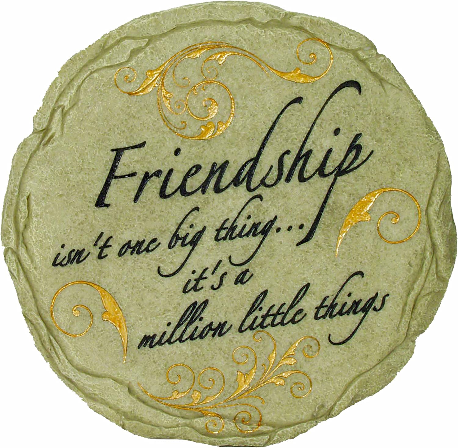Amazon.com : Spoontiques Friendship Stepping Stone : Garden Stones  Friendship : Patio, Lawn U0026 Garden