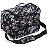 Kenley Professional Hairdressing Hair Equipment Tool Carry Case Bag - Midnight Flowers