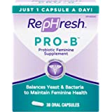 RepHresh Pro-B Probiotic Feminine Supplement, 30 Oral Capsules