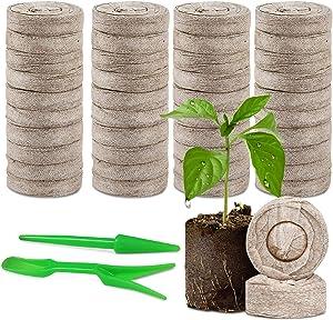 120 Pcs Peat Pellets Plant Pallet Seedling Soil Blocks - 30mm Indoor Potting Soil Seedling Starter Soil Plugs Garden Tools,Organic Compost Fiber Starting Mix,for Flowers Home Plant and Vegetables
