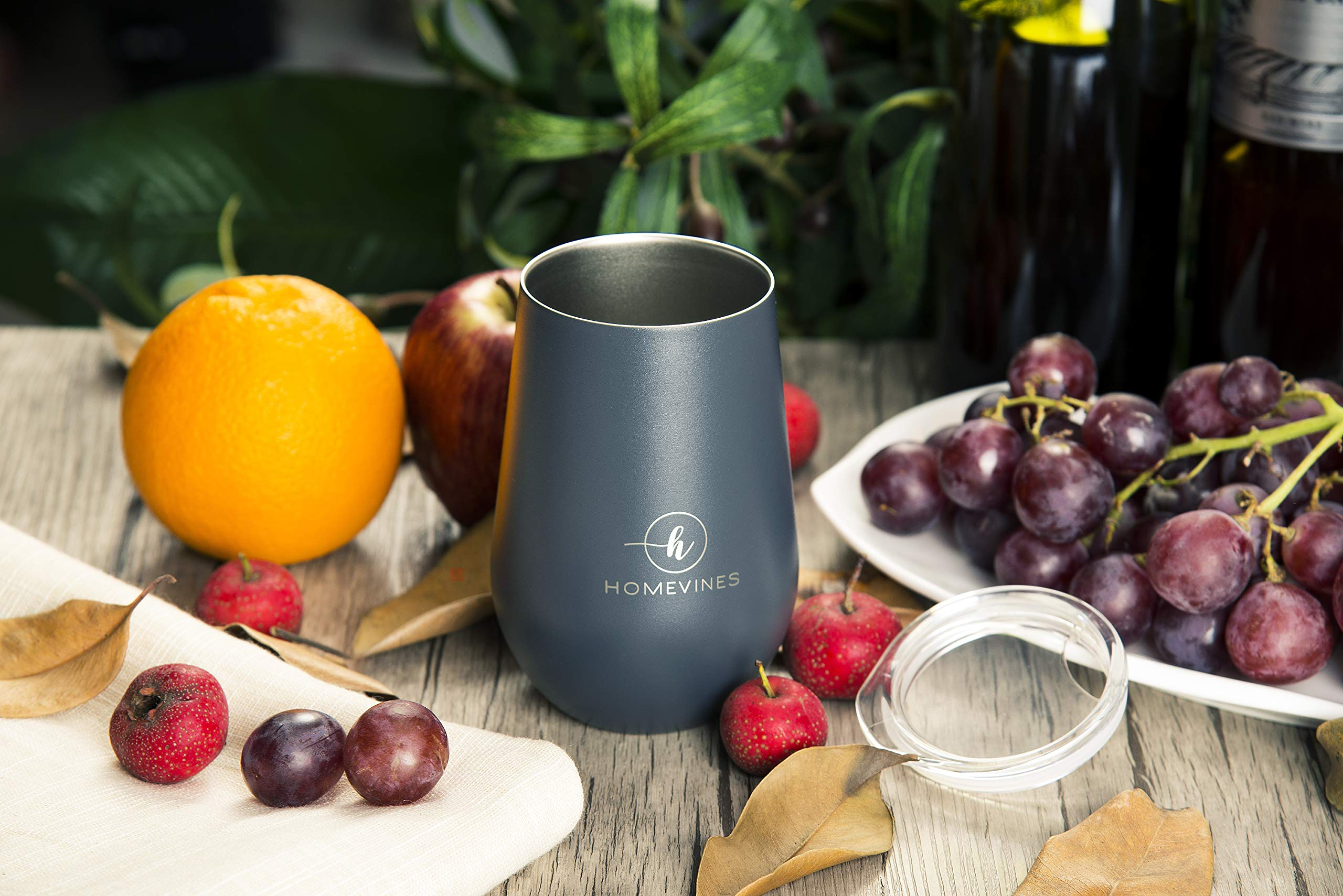 HomeVines Wine Tumbler With Lid - Insulated 12 oz Stainless Steel Wine Tumblers & Portable Stemless Glasses (Travel Adult Cups Perfect For Wine, Coffee, Drinks, Cocktails, Tea) by HomeVines (Image #5)