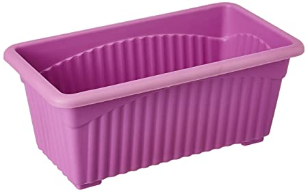 First Smart Deal Plastic Rectangle Pot (Purple, Pack of 3)