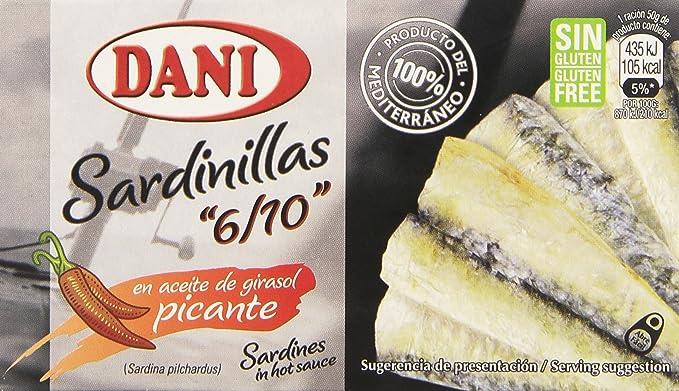 Dani - Sardinillas en aceite de girasol - Picante - 65 g