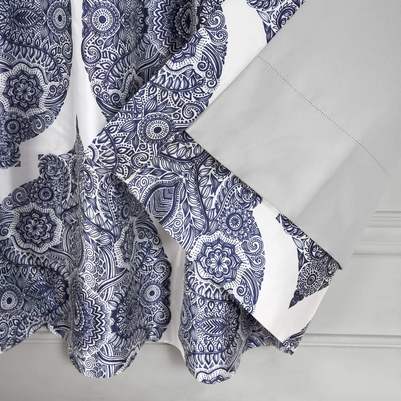 Mendi Ptpch-170805A-84 Royal Printed Faux Silk Taffeta Blackout Curtain 50 x 84