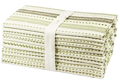 Cotton Craft 12 Pack Salsa Stripes Ponadwymiarowe serwetki obiadowe
