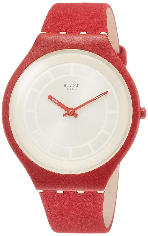 Analog Mit Damen Armband Quarz Uhr Swatch Leder Svur100 XiuPTOkwZ