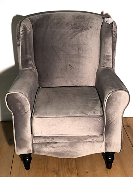 Furniture 321 Sherlock Homes Wingback Chair Brushed Grey