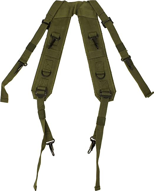 Amazon.com | Olive Drab Combat H Style LC-1 Military Suspenders Load
