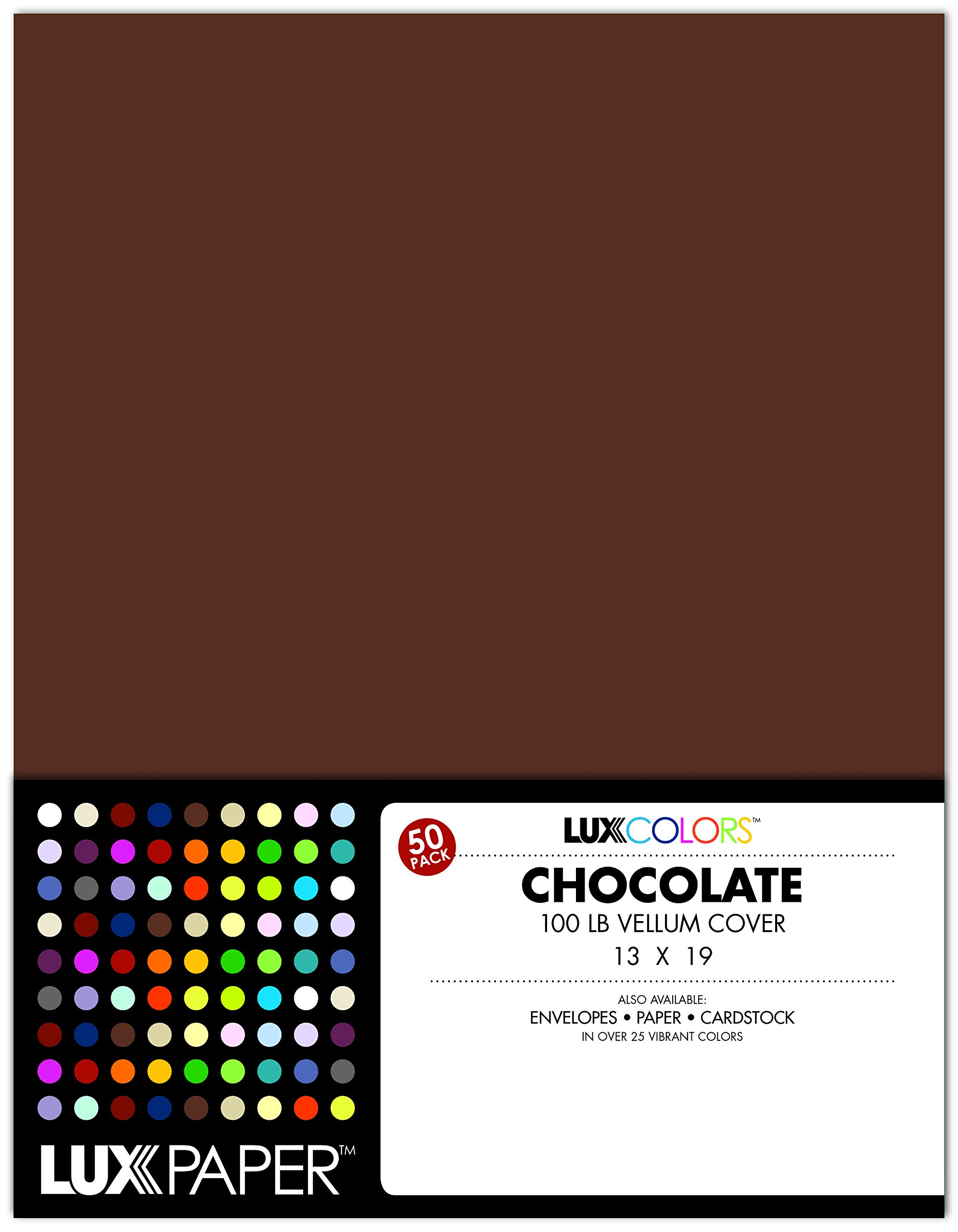 13 x 19 Cardstock - Chocolate Brown (50 Qty.)