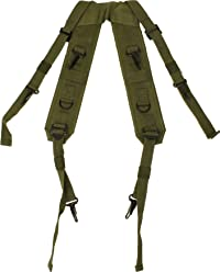 Olive Drab Combat H Style LC-1 Military Suspenders Load Bearing Harness  Backpack Straps e02be23fcc7