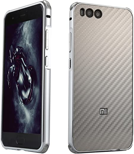 LXHGrowH Xiaomi Mi 6 capa, caixa de metal ultrafino quadro de alumínio para Xiaomi Mi 6 em prata