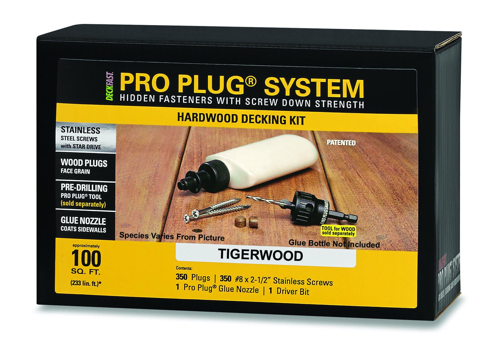 PRO-PLUG SYSTEM for Hardwoods - 350 pc Kit for 100 Sq. Ft. - Tiger Wood plugs 5/16'' diameter