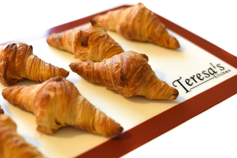 Teresas Kitchen - 2x Tapis de cuisson en silicone - Anti-adhésif - Résistant à la chaleur - Cuisson Saine - Convient à lusage alimentaire certifié - ...