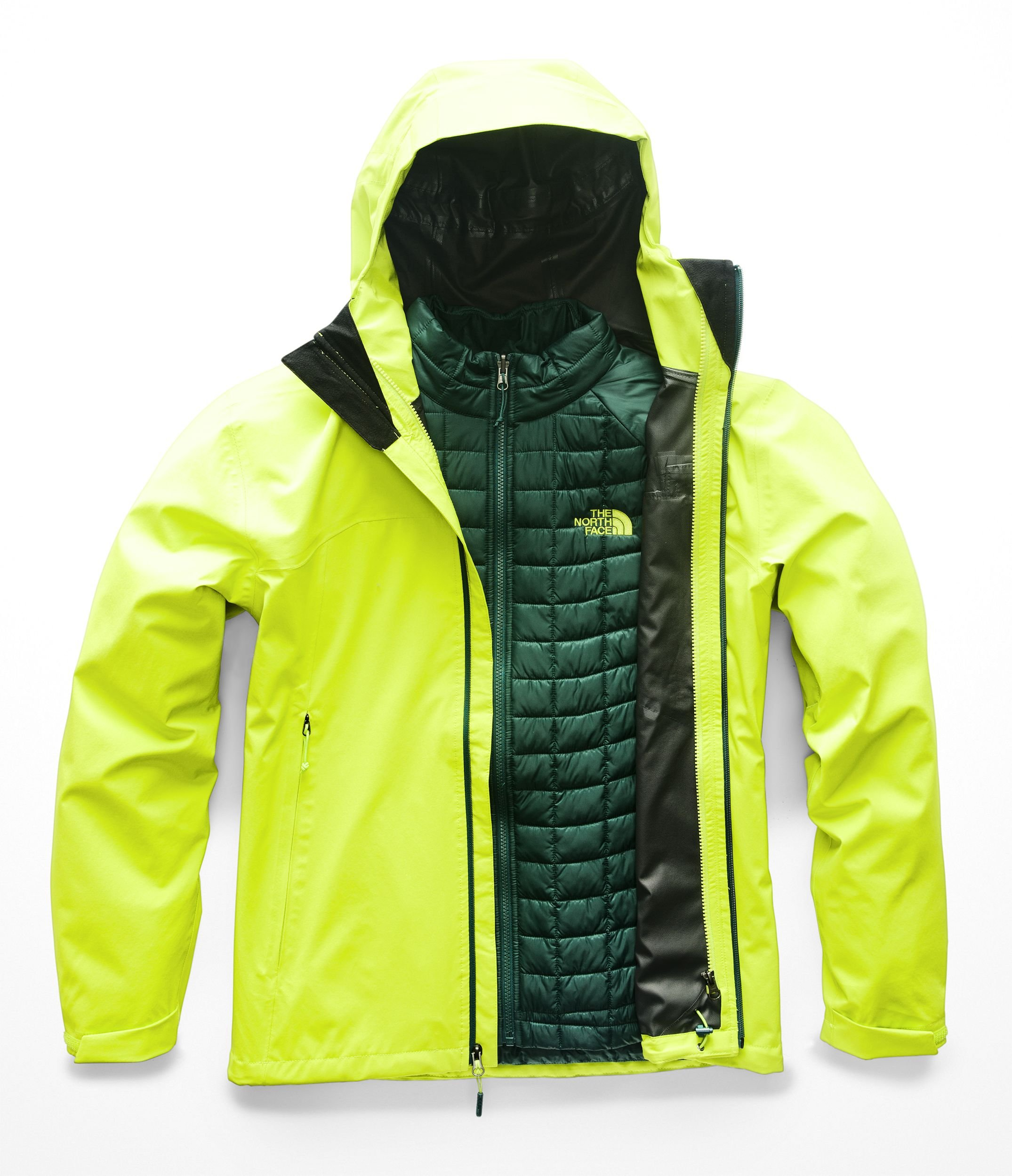 The North Face Men's Thermoball Triclimate Jacket - Lime Green & Lime Green - XXL by The North Face