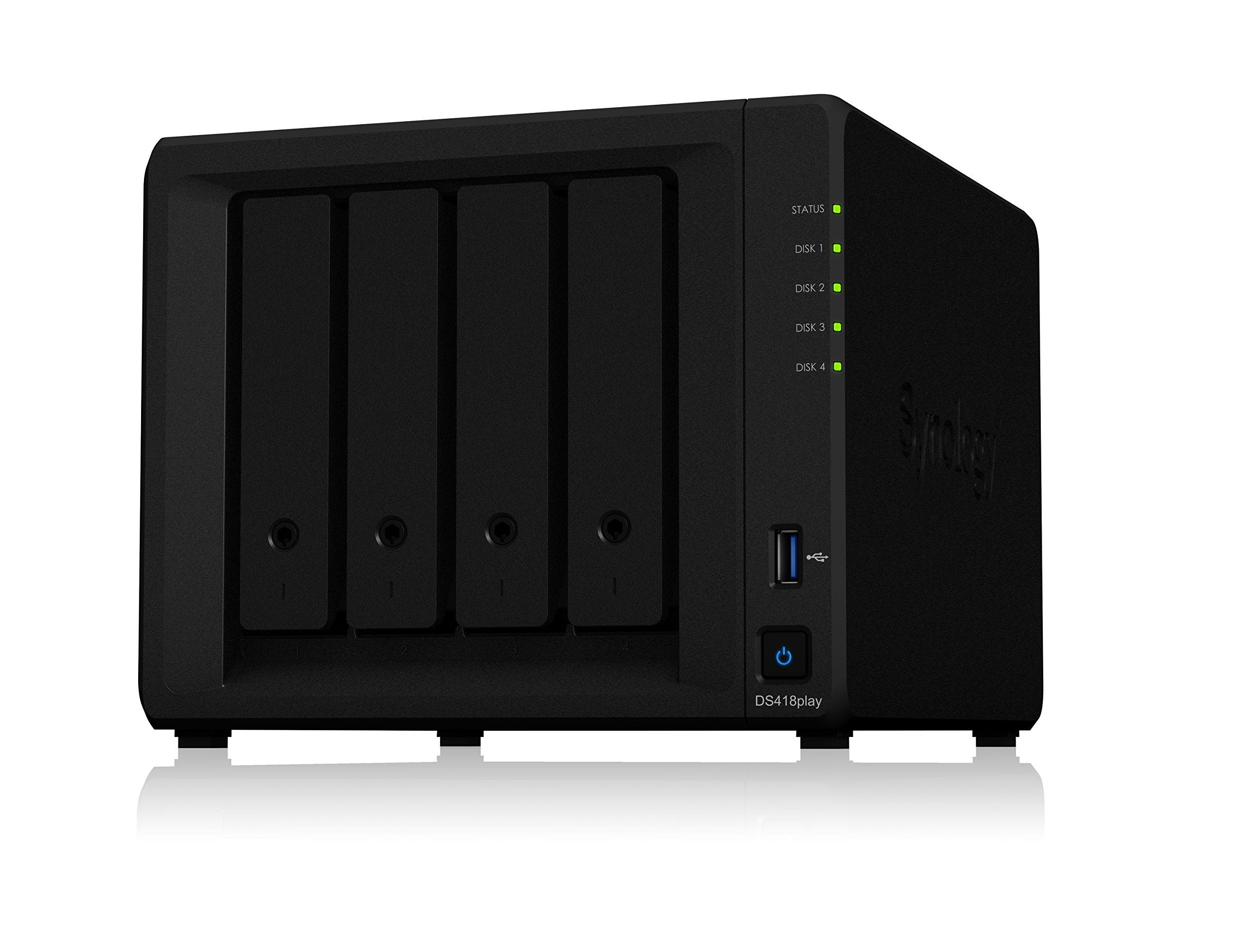 Synology DS418play NAS Disk Station, 4-bay, 2GB DDR3L (Diskless) by Synology