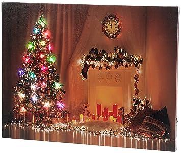 Weihnachtsbilder Elch.Infactory Weihnachtsbilder Wandbild Weihnachten Mit Farbwechselnder Led Beleuchtung 50 X 38 Cm Beleuchtete Led Weihnachtsbilder