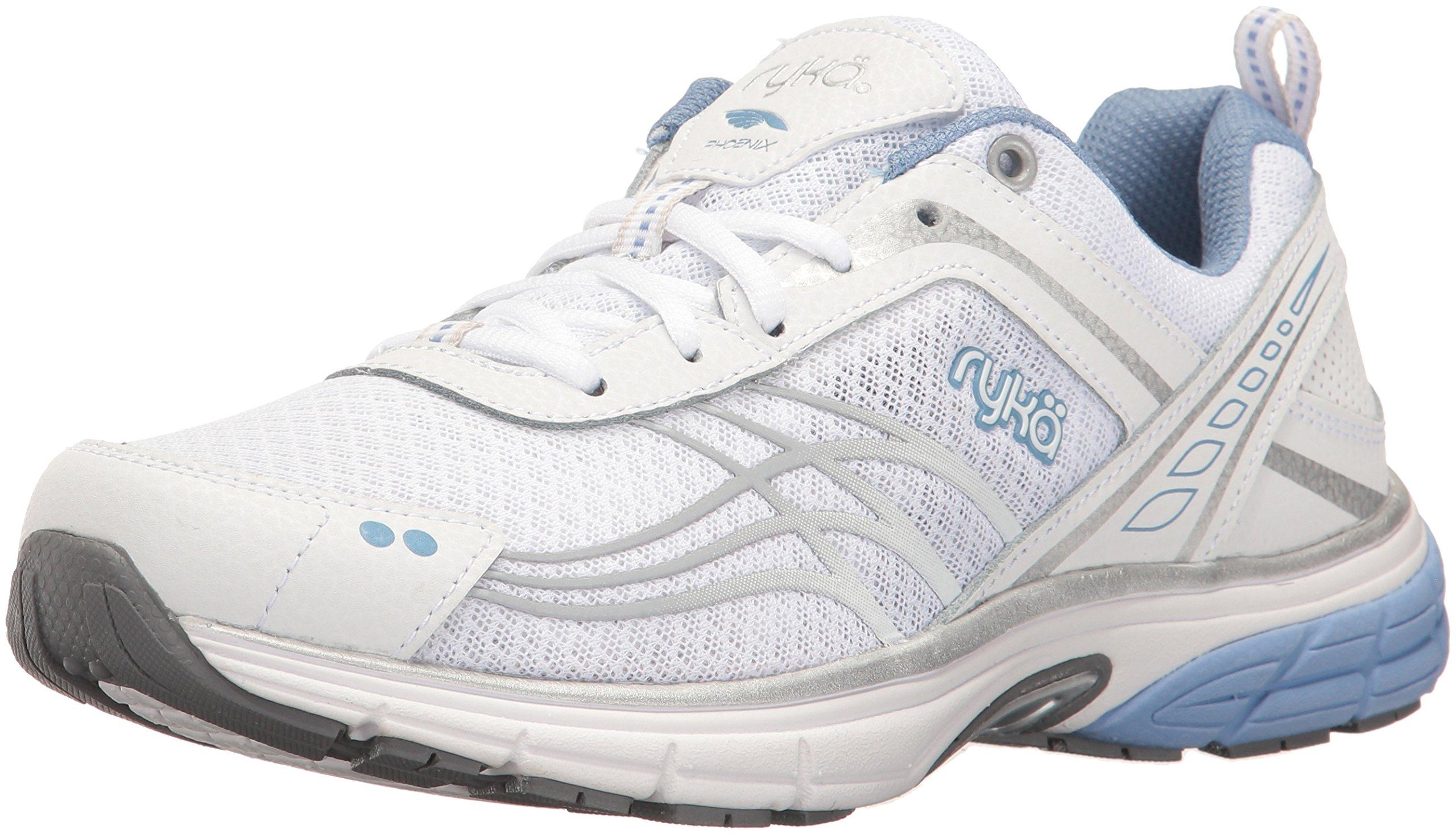 Ryka Women's Phoenix Running Shoe, White/Silver, 7.5 M US by Ryka (Image #1)