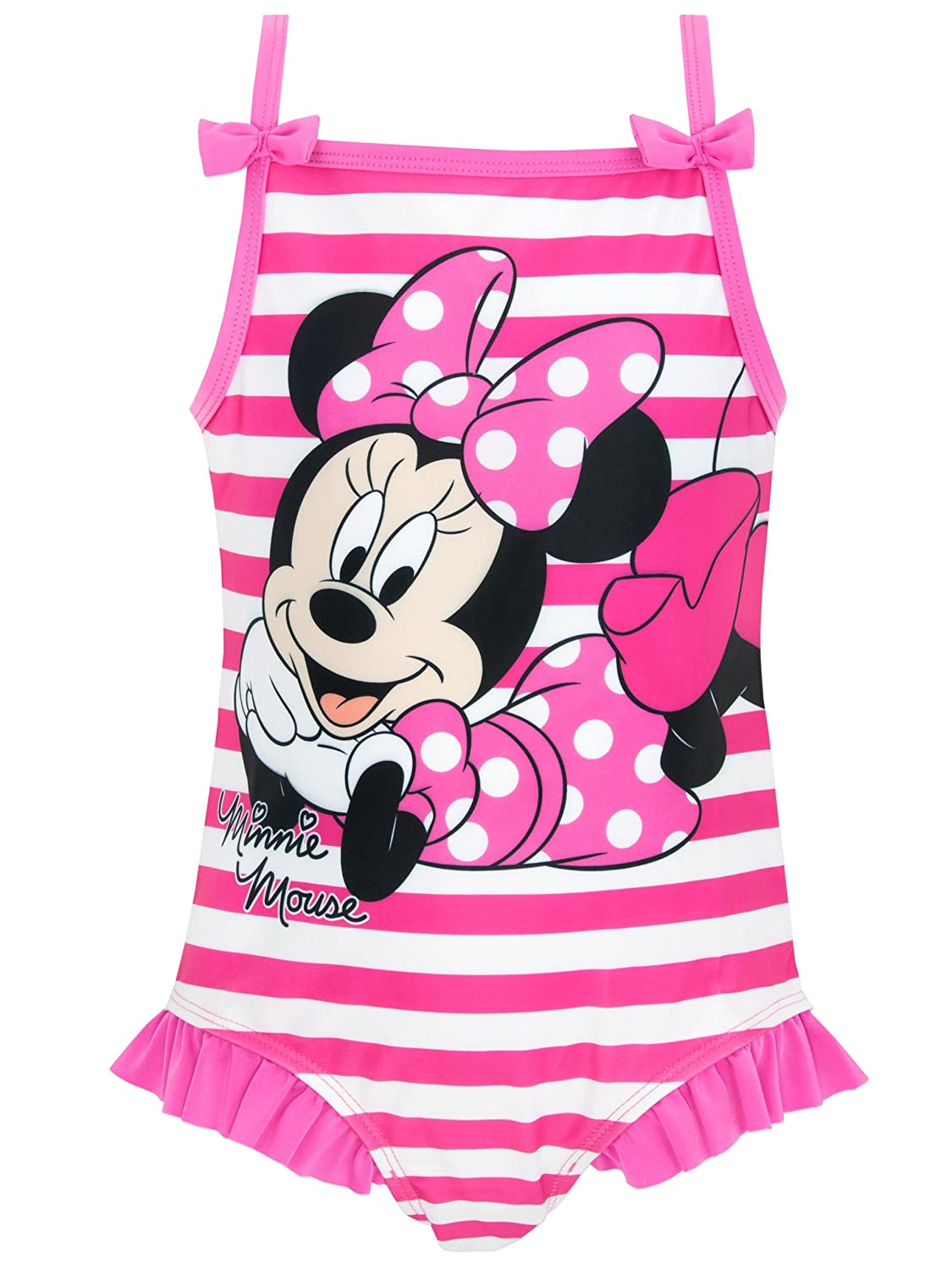 Disney Minnie Mouse Girls Minnie Mouse Swimsuit Ages 18 Months to 7 Years