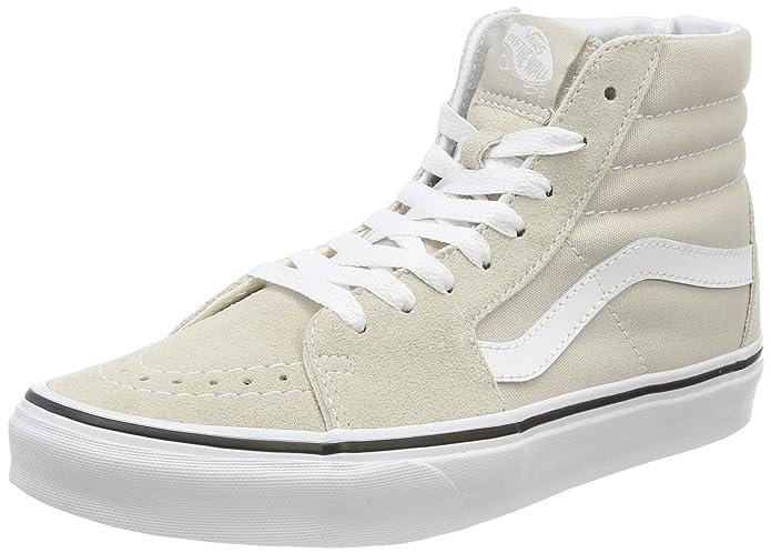 Vans Sk8-hi Schuhe Unisex-Erwachsene Leder u. Textil beige (Silver Lining)