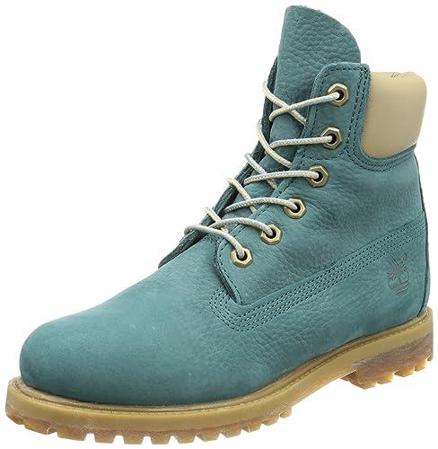 Timberland 6 in FTB_6in Premium Boot-W, Botas de Aventura para Mujer, Turquesa-Türkis (Teal), 39 EU: Amazon.es: Zapatos y complementos